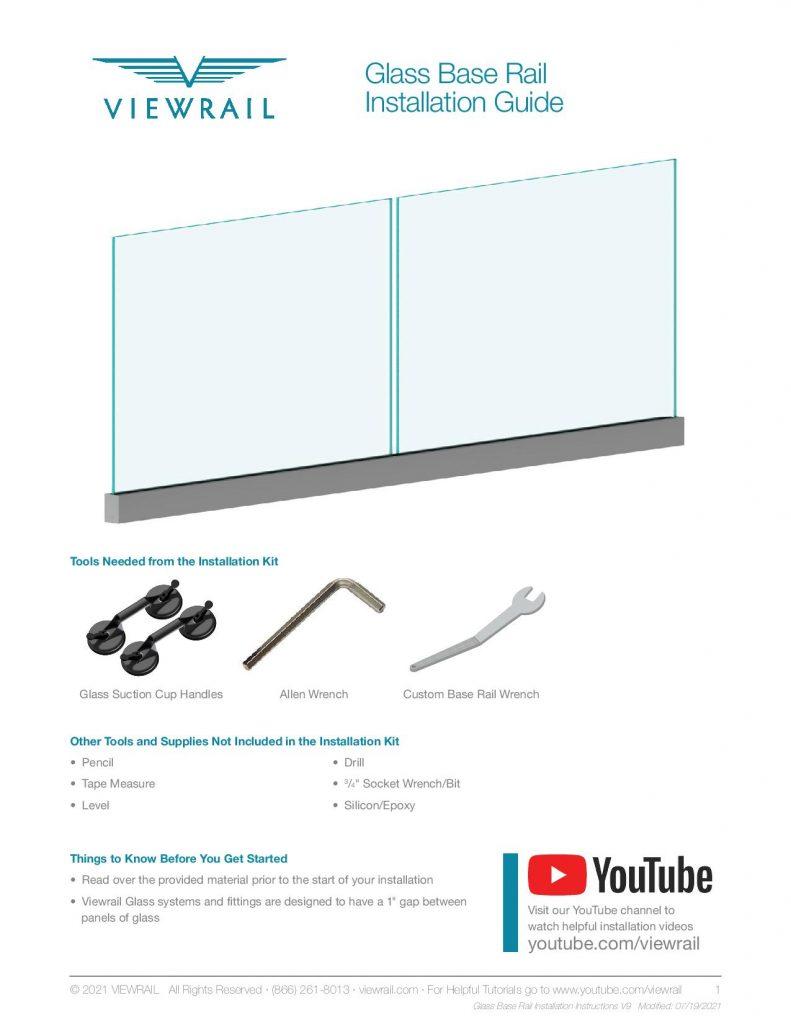 Glass Base Rail Installation Instructions