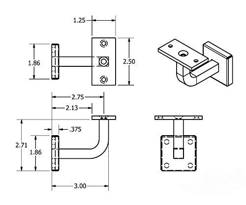 Handrail Width: Stainless Steel Handrail Bracket