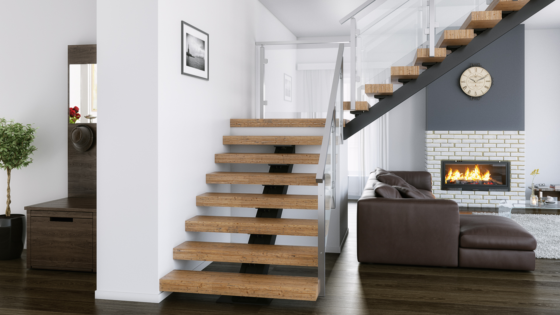 Best Images Modern Staircase Ideas On Staircase Ideas: Floating Stairs Design: Straight, 90° Turn, Switchback