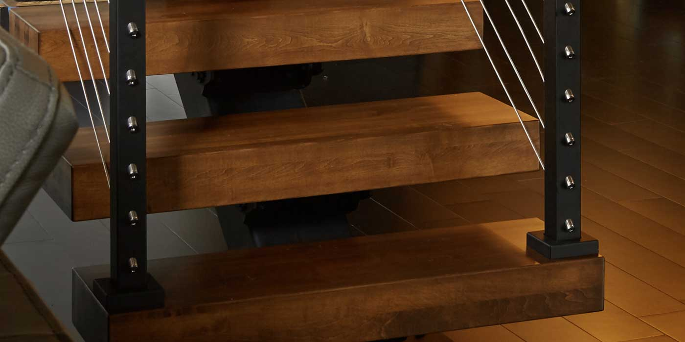 Thick Treads For Floating Stairs Modern Wood Stair