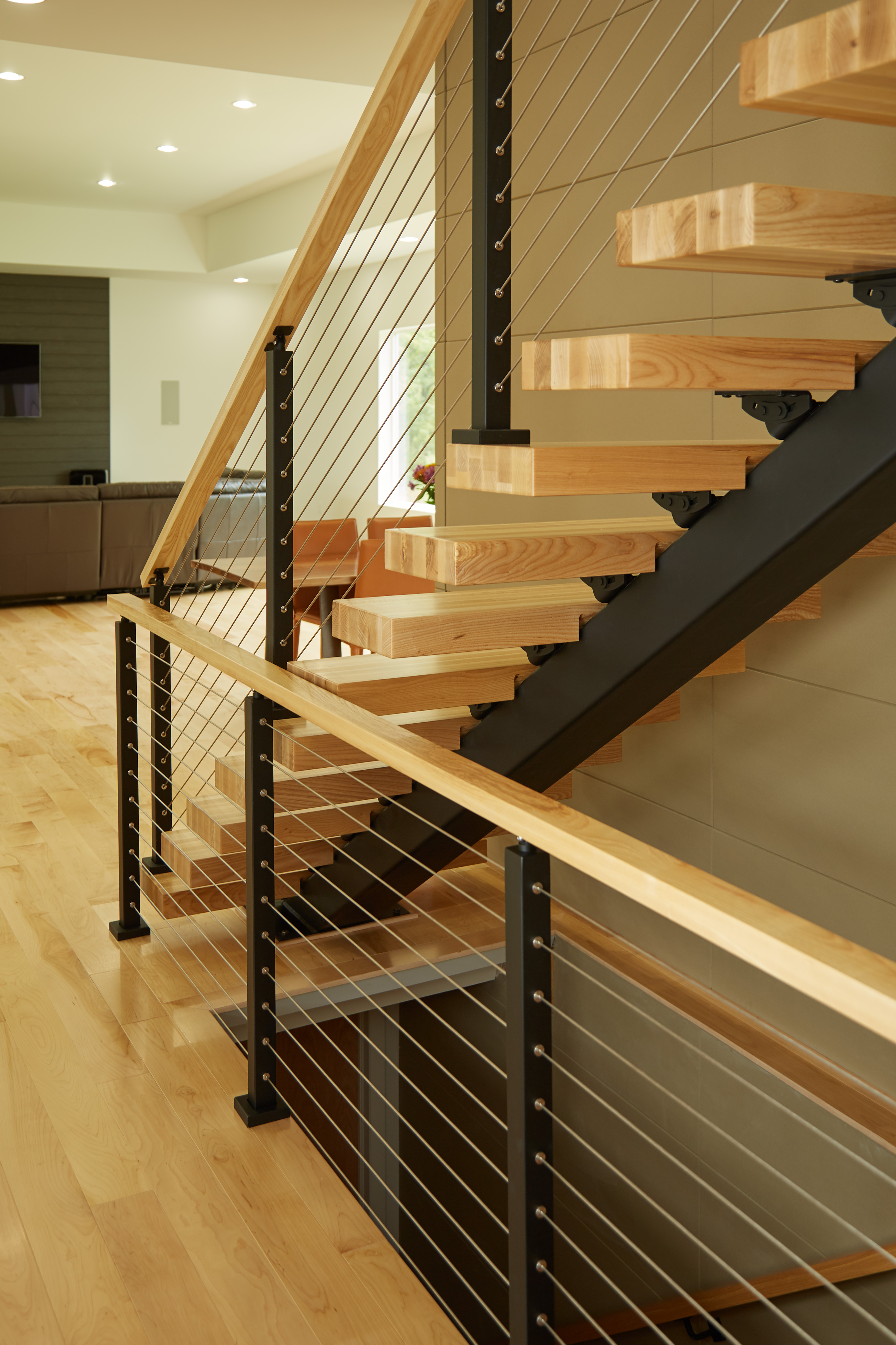 stair rail installation for home | Full System Contemporary Home - Viewrail