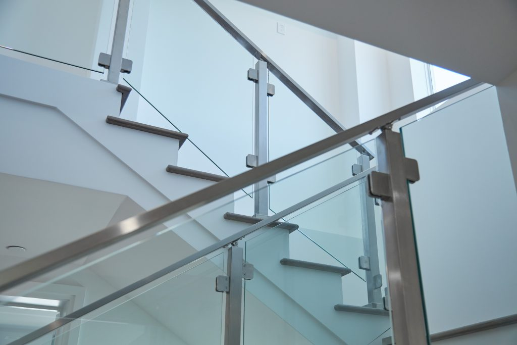 Glass Railing and Stainless Steel Handrail