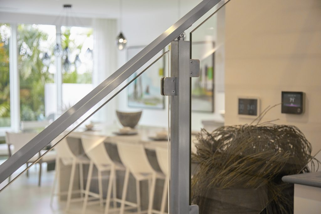 Interior Glass Railing Post