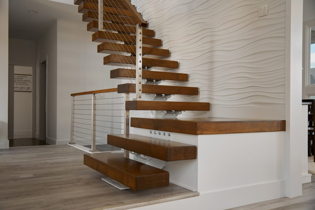 90 Degree Floating Stair Remodel