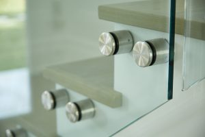 frameless glass railing standoff pins