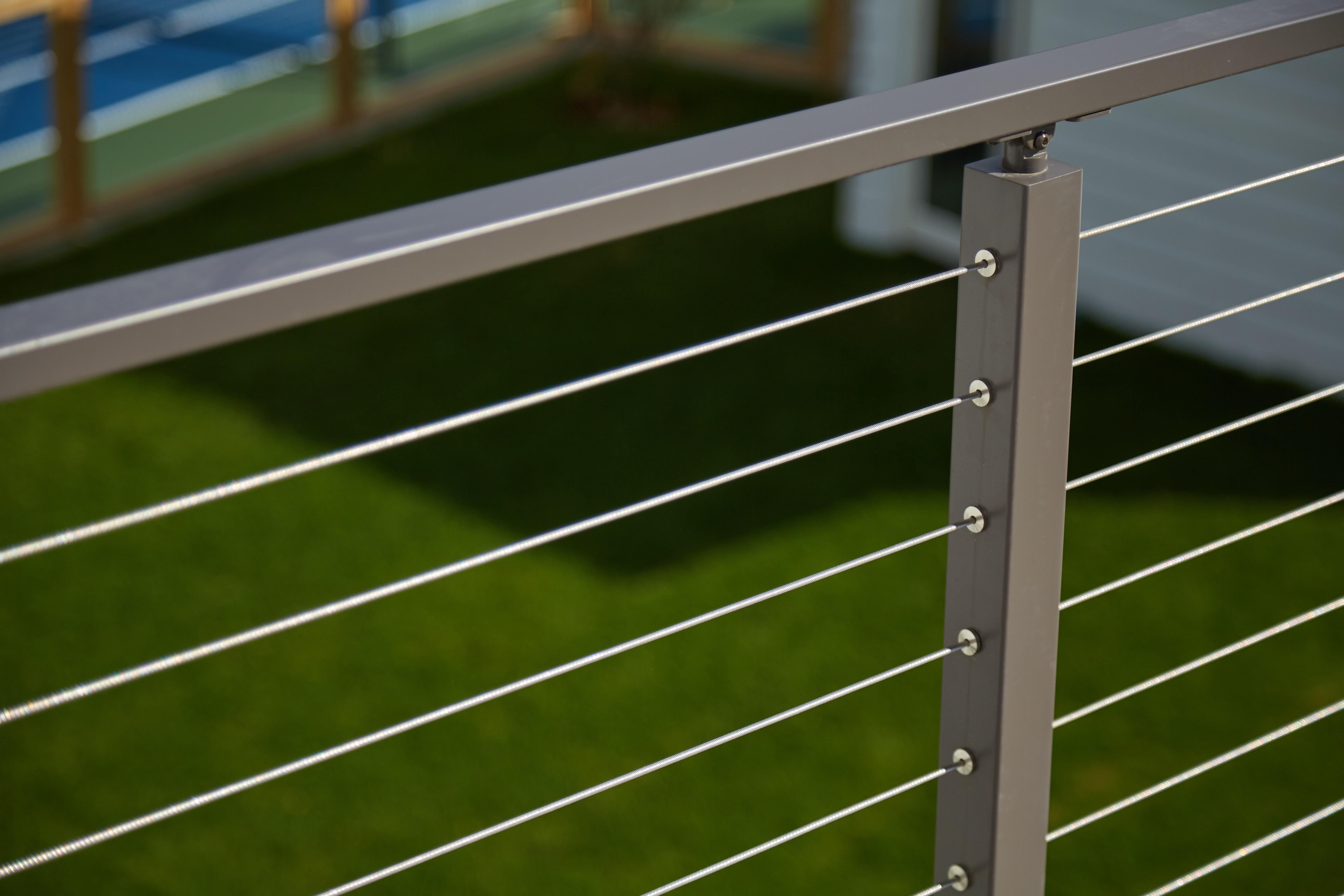 Tennis Court Deck Railing