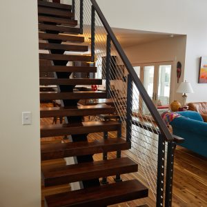 stainless horizontal stair railing