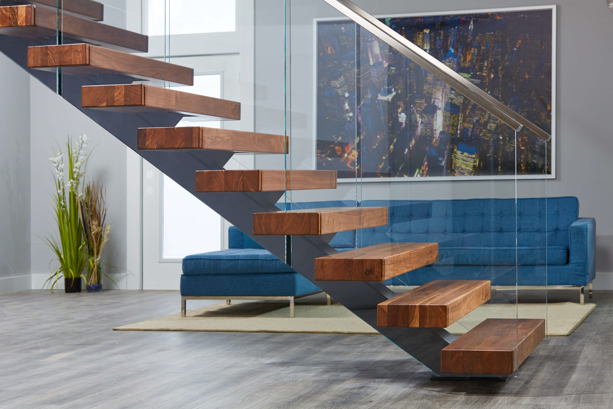 Viewrail Floating Stairs And Modern Railing For Stairs