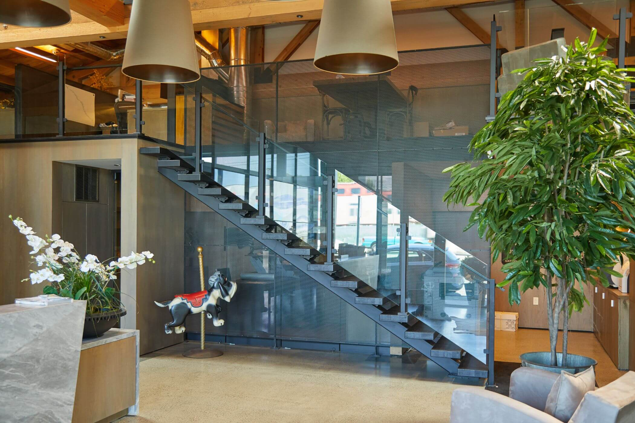 Clear Glass Railing for Indoors - Viewrail