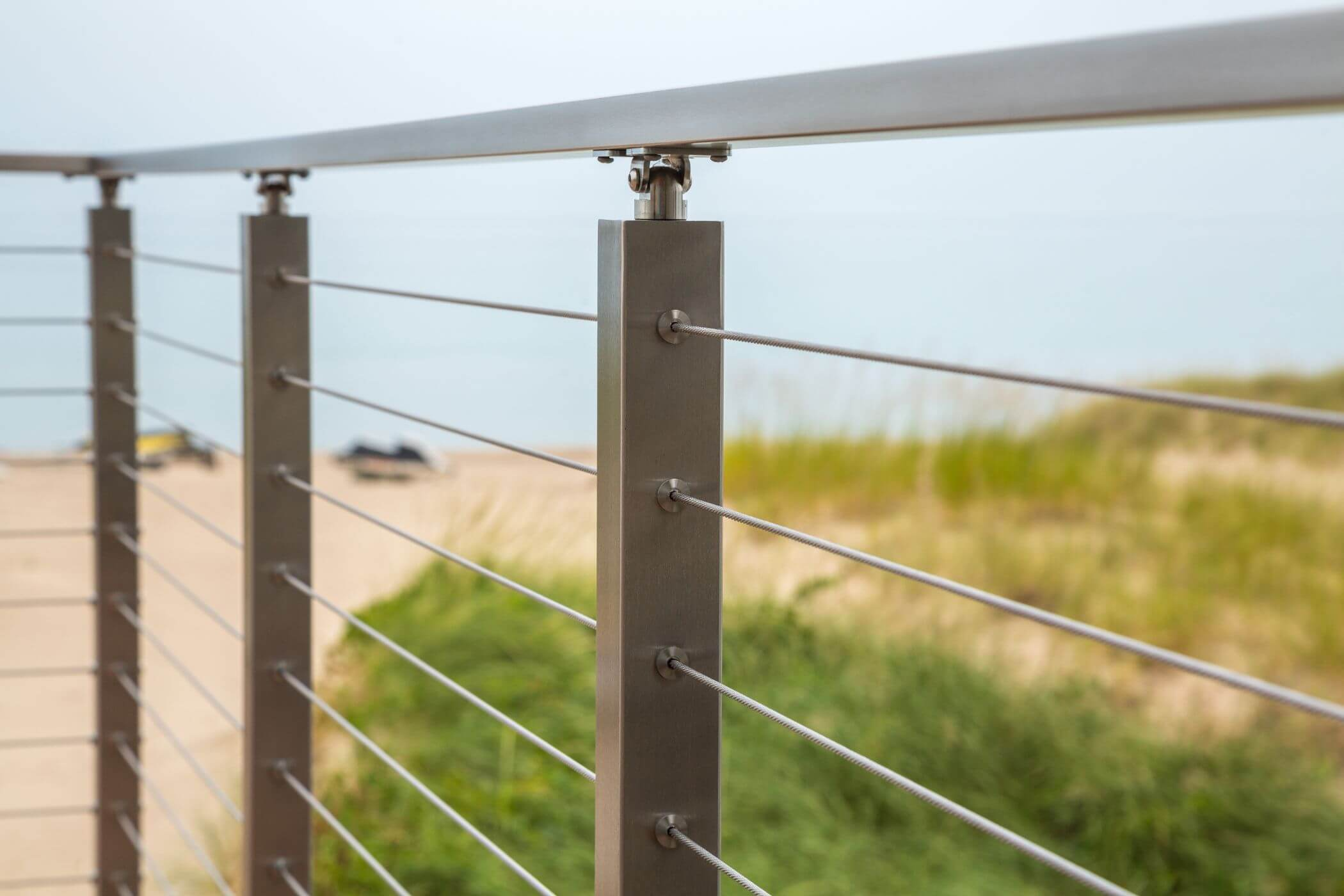 Waterfront Stainless Steel Cable Railing - Viewrail