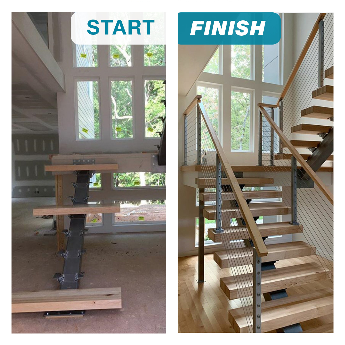 Open Riser Stairs A Mono Stringer