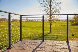 Metal Post Cable/Rod Railing
