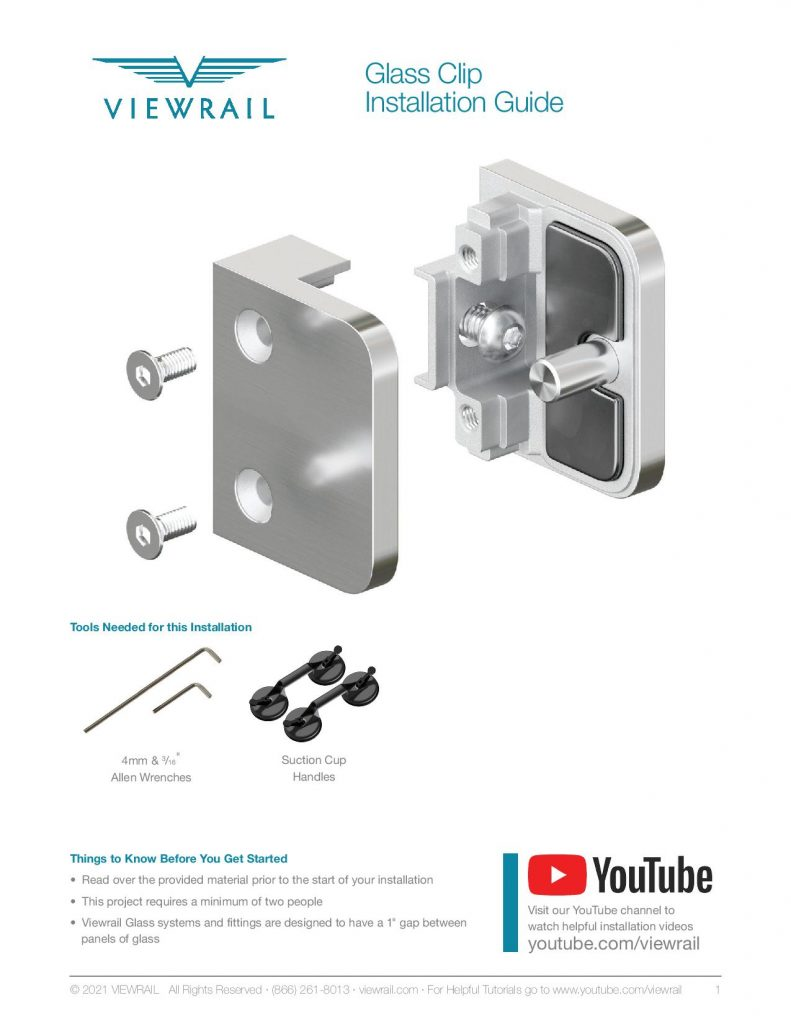 Glass Clip Instructions